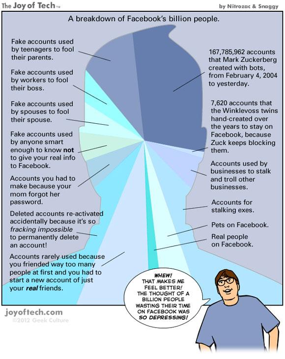 Facebook : la réalité derrière le milliard d'utilisateurs