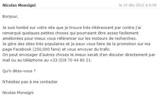 Boulet du SEO - spam blog 2