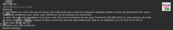 Boulet du SEO - spam blog 1