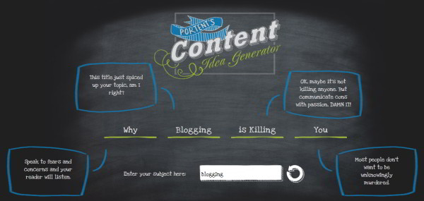 Content idea generator : blogging is killing you