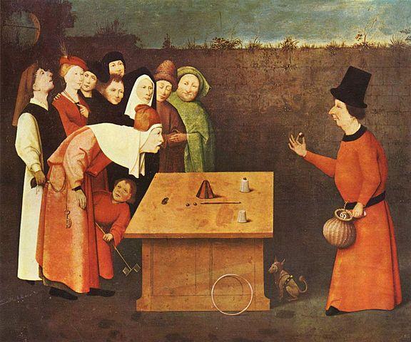 Hieronymus Bosch: The Conjurer, 1475-1480.