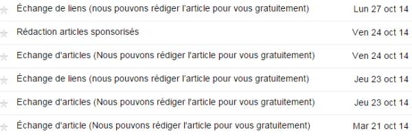 La boîte aux lettres d'un blogueur