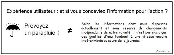UX : informer pour agir