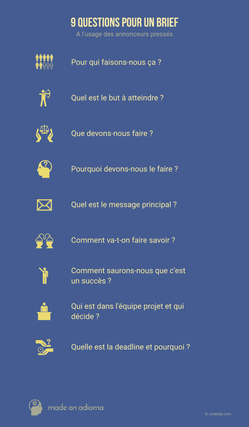 9 questions pour un brief #infographie