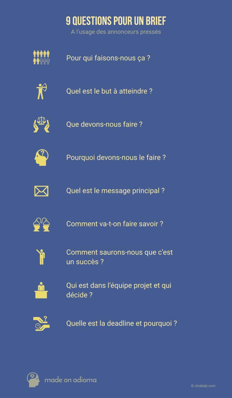 9 questions pour un brief #infographie