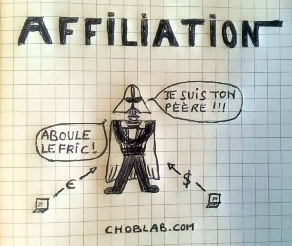 L'affiliation selon choblab - dark vador