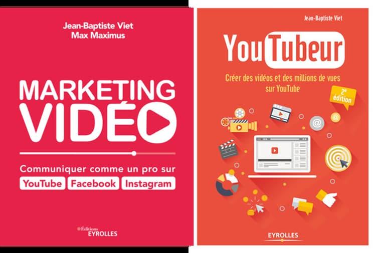 Livres marketing vidéo et Youtubeur, Eyrolles