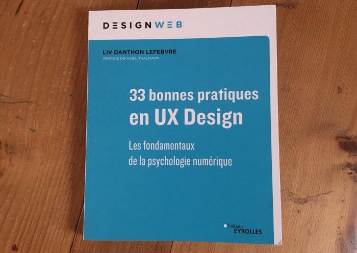 Couverture de l'ouvrage 33 bonnes pratiques en UX Design