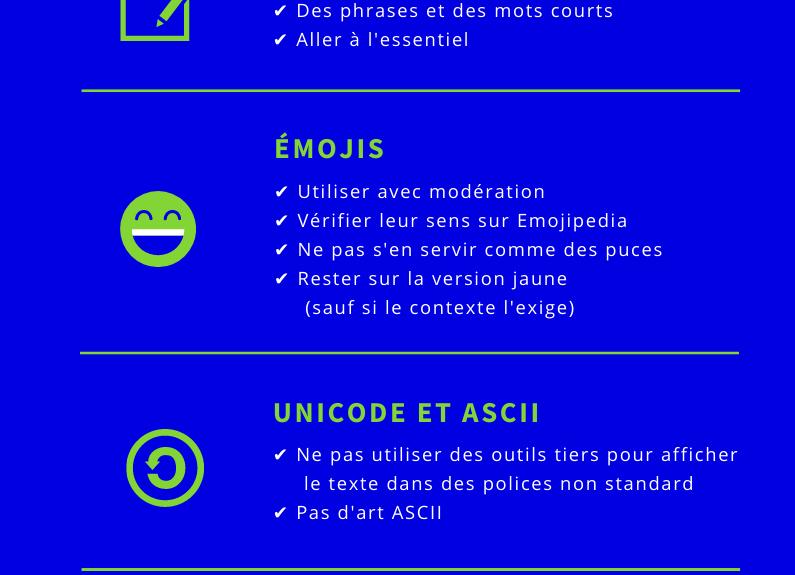 Médias sociaux et accessibilité : la check-list [infographie]